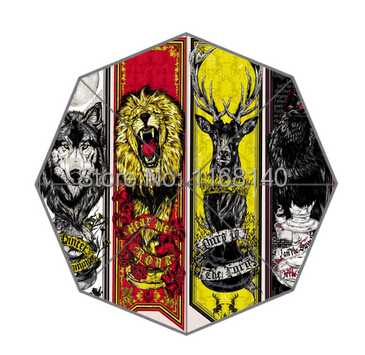 Free Shipping The Animal Totem In Game of Thrones 43.5 inch Umbrella Customize Novelty Items Gift Of Umbrellas(China (Mainland))