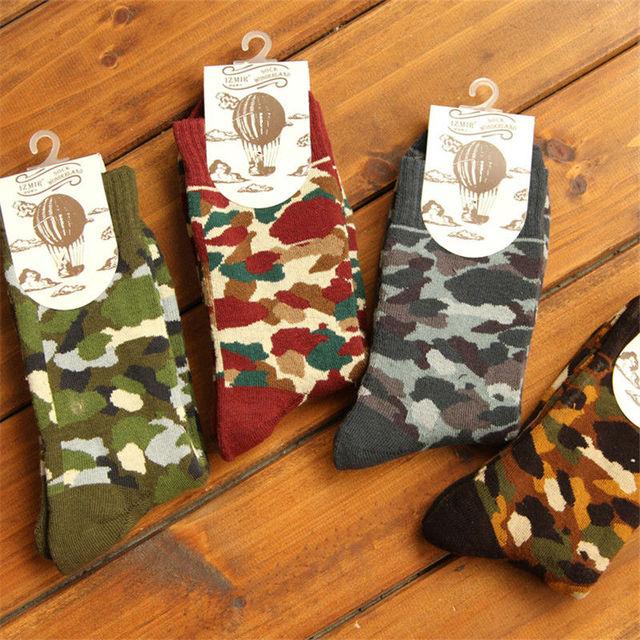 Новинка мужская камуфляж махровые носки зимние мужчины красочные вмс зеленый теплый носок новинка чистый хлопок толстый длинный носки