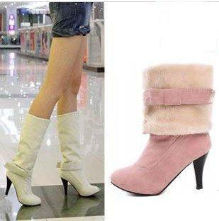 free shipping 2013 sexy Female ladies' shoes fashion high-heeled high-leg boots medium-leg boots platform weomns'  snow boots