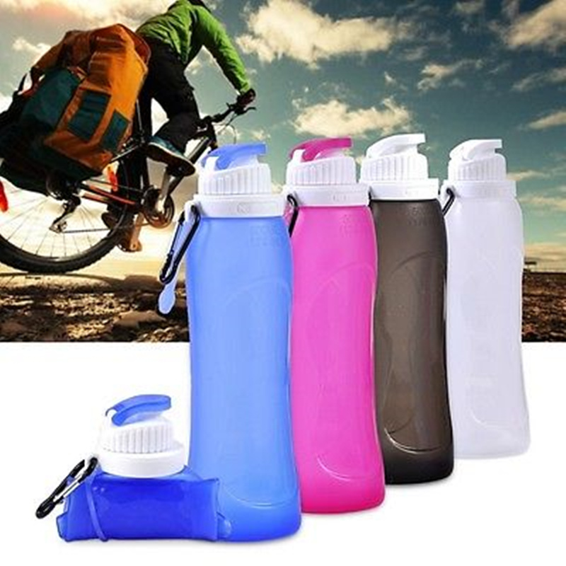 Promotions Flexible Collapsible Foldable Reusable Water Bottles Ice Bag 3 Colors(China (Mainland))