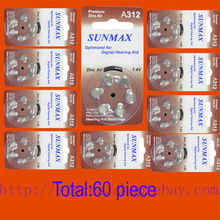 60 x Hearing Aid Batteries A312 312A ZA312 312 PR41 U