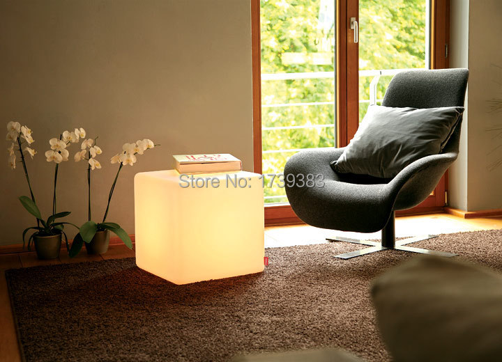 30CM led Furniture chair Magic Dice waterproof LED Remote controll square cube lumineux light for home/bar/nightclub/wedding(China (Mainland))