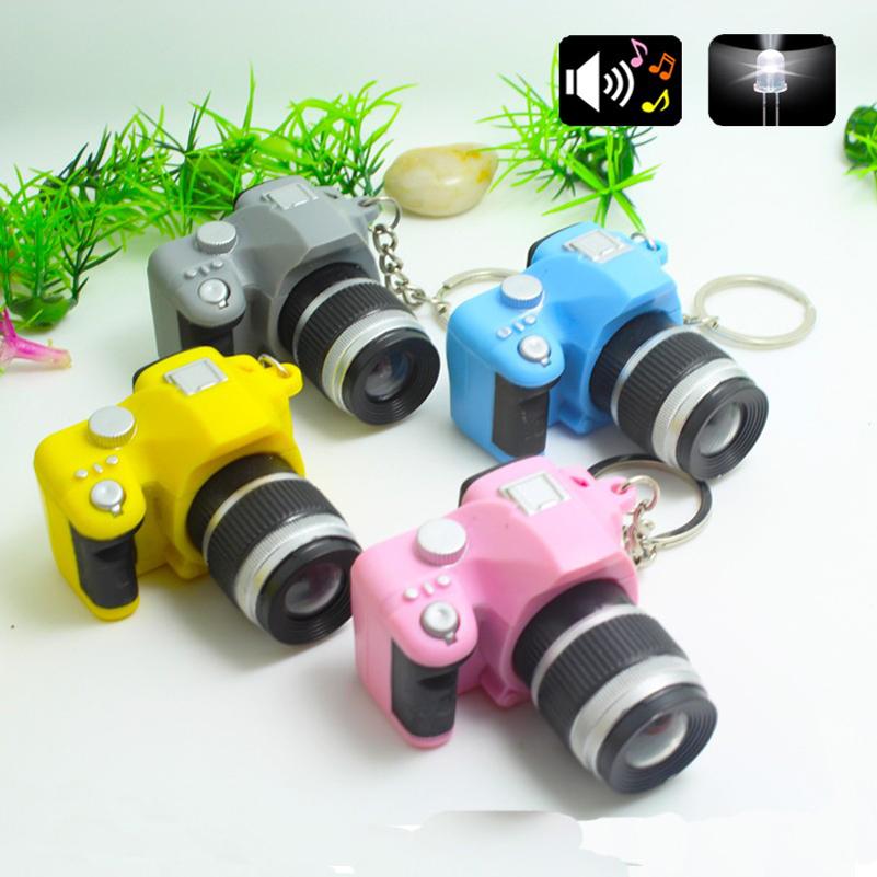 Plastic Toy Camera Car Key Chains Kids Digital SLR Camera Toy LED Luminous Sound Glowing Pendant Keychain Bag Accessories(China (Mainland))