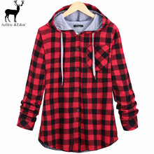 fashion 2016 winter plus velvet thickening plaid woman shirts long-sleeve all-match tops women blouses cashmere Women's Clothing(China (Mainland))