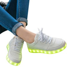 HOT Led Shoes For Men Women Fashion Light Up Casual Shoes For Adults Outdoor Glowing Plus Size Led Shoes 63(China (Mainland))