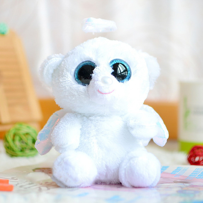 Ty big eyes 2015 white Angel Bear plush toys Lovely Children's Kids Birthday party gifts kawaii Animals cute Stuffed dolls - Lucky store 888 (01 store)
