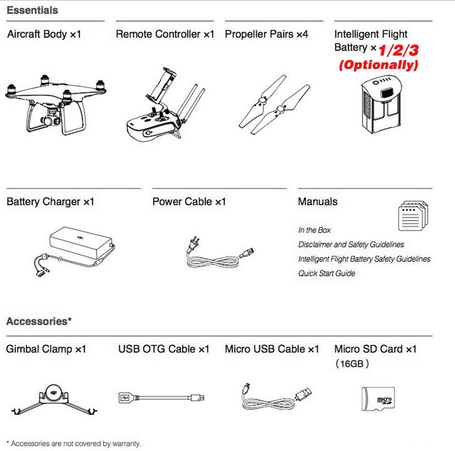 DJI Phantom 4 battery Optionally :New features:Visual Tracking follow me,TapFly,Sport mode,Obstacle Sensing System, Ready to Fly