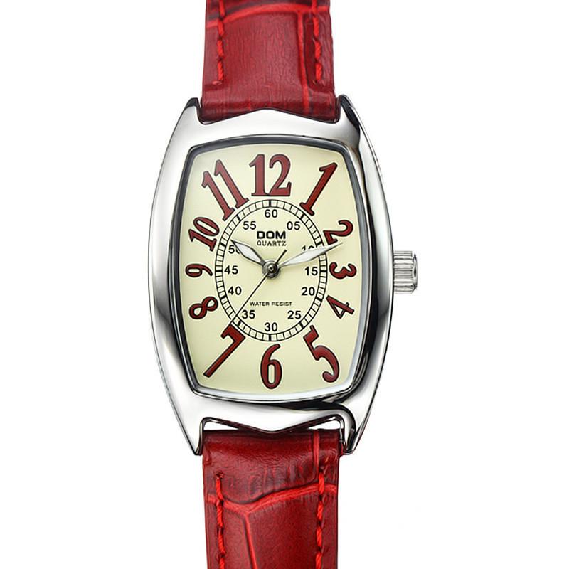 Free shipping Dom lady watch luminous pointer genuine leather watchband new popular quartz watch<br><br>Aliexpress