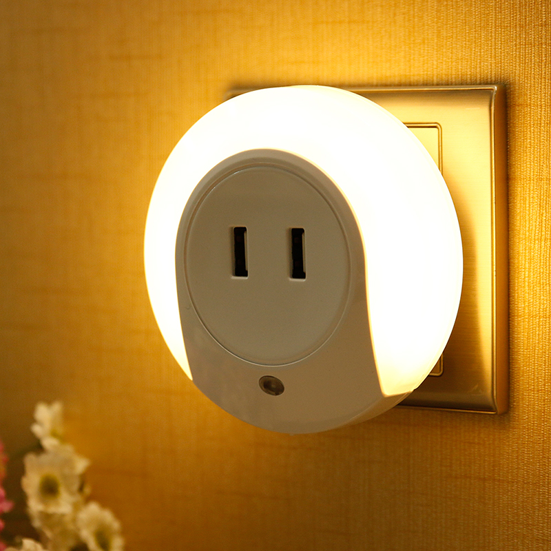 LED Night Light with Light Sensor and Dual USB Wall Plate Charger Perfect for Bathrooms Bedrooms Etc Hot On Sale(China (Mainland))