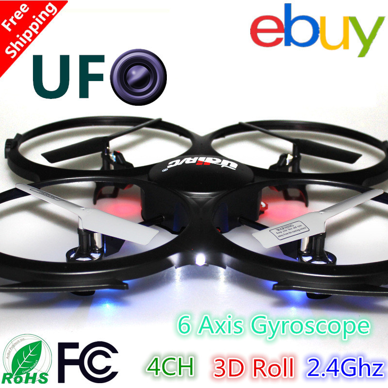 2.4Ghz 4ch 6 Axis Quadrocopter Camera rc Helicopter 3D Roll udi u818a quad helicopter with camera U818a drone camera VS cx-20(China (Mainland))