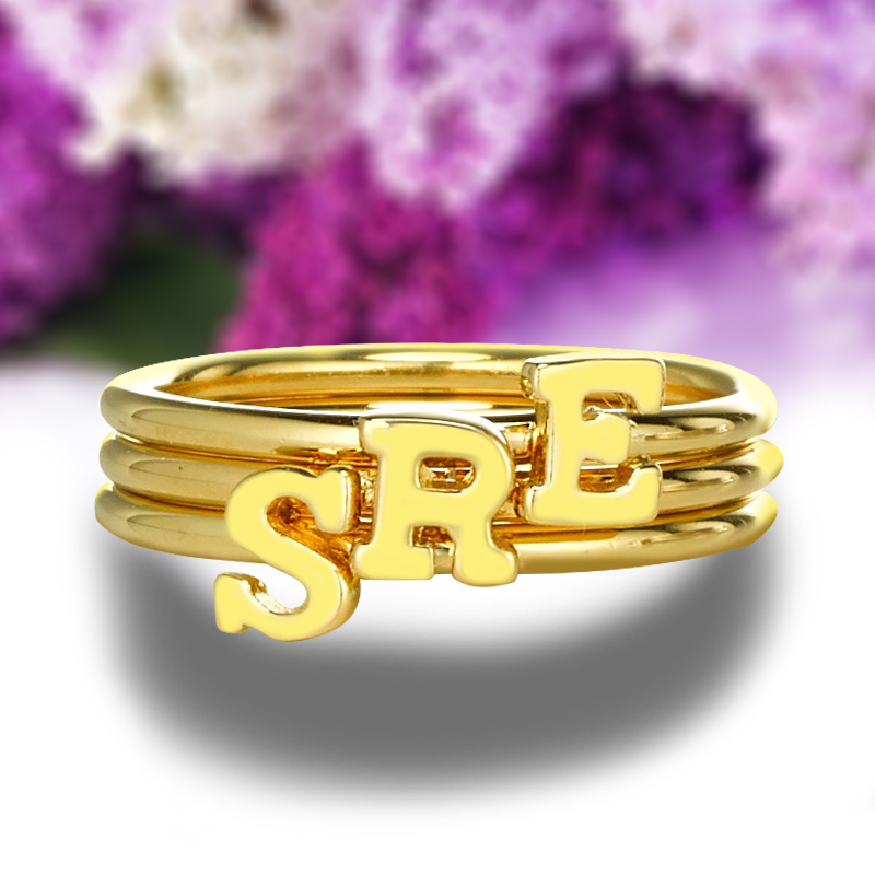 popular gold initial ring buy cheap gold initial ring lots