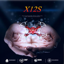 Buy Syma X12S Mini Pocket RC Drone Quadcopter 4CH 6 Axis Gyro 2.4GHz Remote Control Helicopter 360 Eversion Headless Mode Nano Toys for $19.90 in AliExpress store