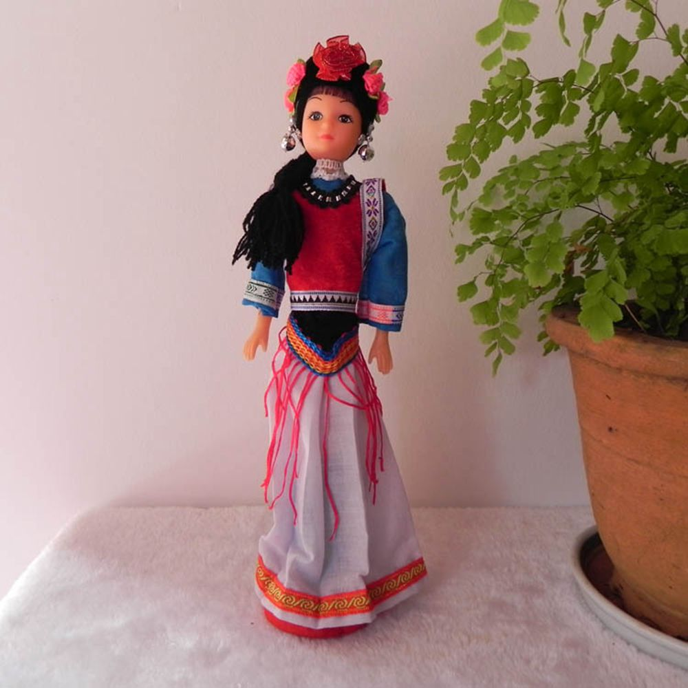 Toys For Minorities : China ethnic mini minority toys dolls collection cultural