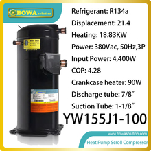 Buy 19KW heating capacity R134a ultra high temperature heat pump scroll compressor replace panasonic scroll compressor for $763.80 in AliExpress store