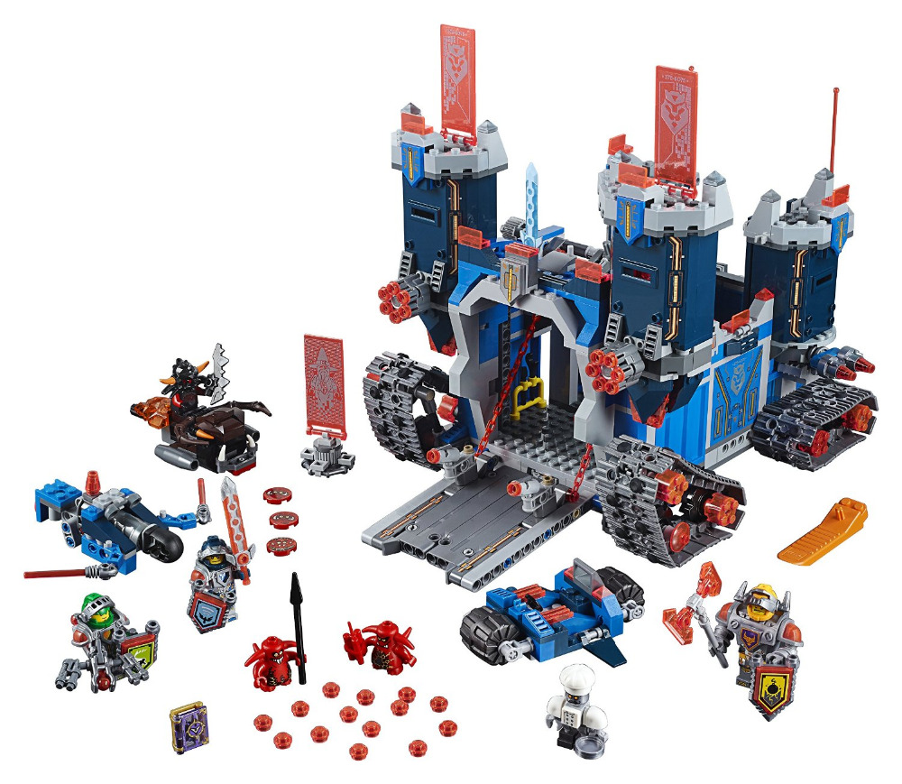 LEPIN Nexo Knights Axl Fortrex Combination Marvel Building Blocks Kits Toys Minifigures Compatible Legoe Nexus - A+ store