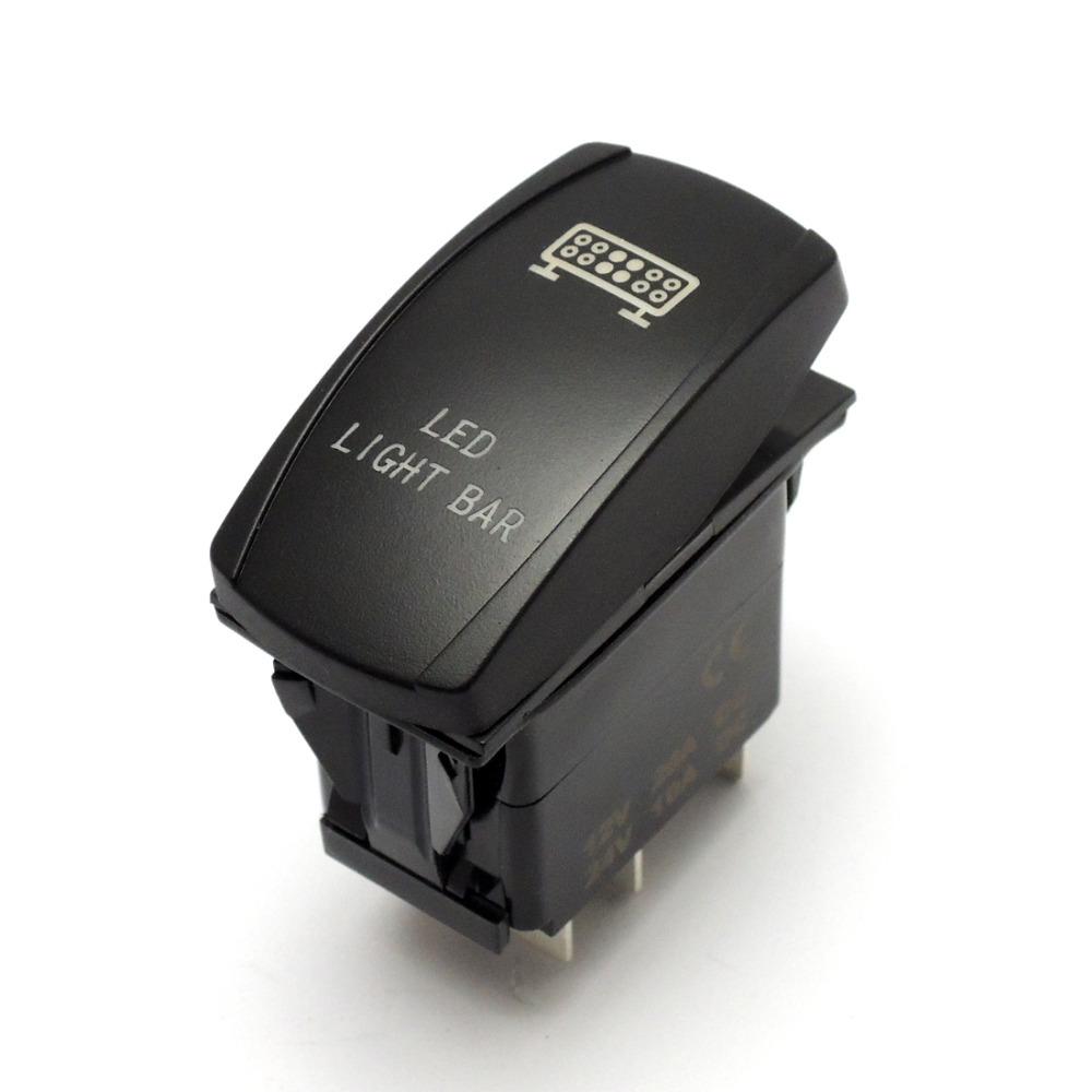 For POLARIS RZR900 RZR1000 800 RZR4 Ranger 2015 Light Bar Laser Rear Lights UTV Rocker Switch Push Button(China (Mainland))