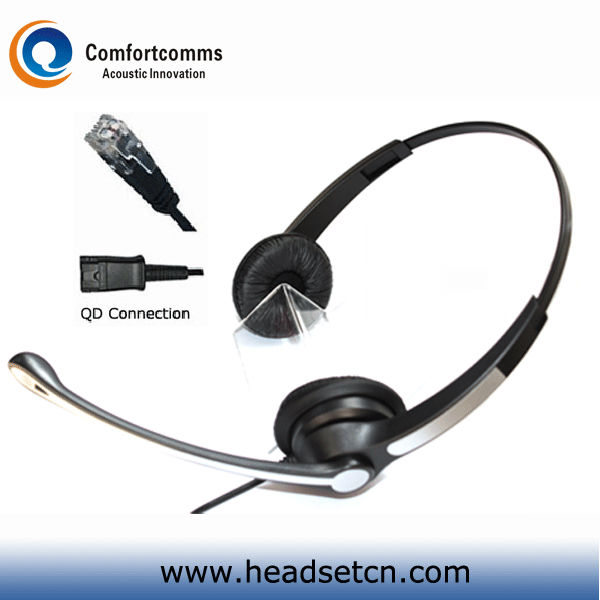 Professional Binaural Call Center telecom Headsets Compatible With QD Cable Polycom IP Phone(China (Mainland))