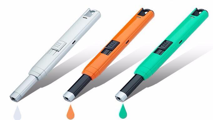 ถูก 1ชิ้นUSBบาร์บีคิวไฟฟ้าr echareable windproofเบาเป็นสูบบุหรี่เครื่องประดับเตาผิงเตาในครัวarcชีพจรเบา