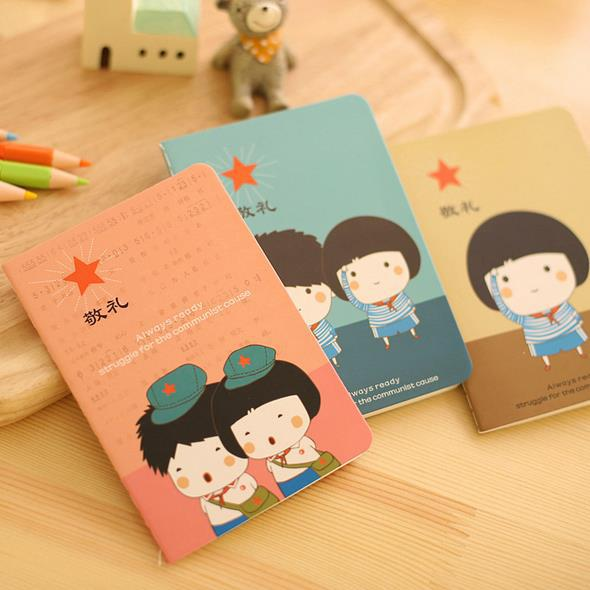 Daily Memos Kawaii Notebook 12*9cm notebook Paper stationery colorful Mini books memo pads Soft Copybook school supplies Gift(China (Mainland))