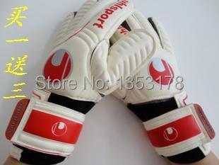 Full latex uhlsport goalkeeper gloves goalkeeper gloves free shipping(China (Mainland))