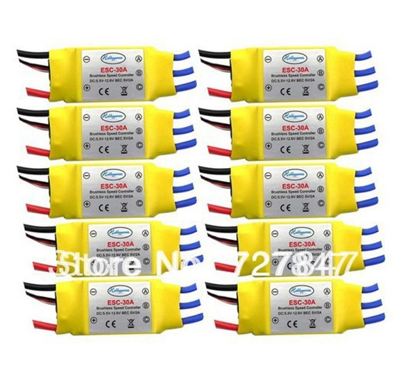 LHM009 10PCS 30A Brushless 450 helicopter multicopter Motor Speed Controller RC ESC +Free shipping(China (Mainland))