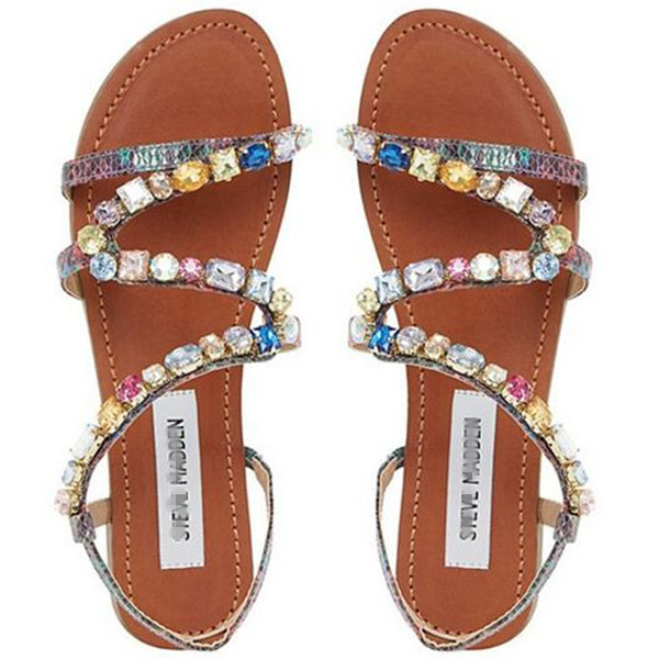 Hot Brand Madden 2015 NEW Steve SEXY Rome Style Diamond bohemian sandals Women's Casual Shoes Female shoes Free Shipping(China (Mainland))