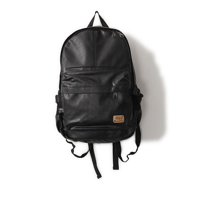 2015 New designer brand fashion black genuine leather men's backpacks preppy style brown women backpack bolsas mochila feminina(China (Mainland))