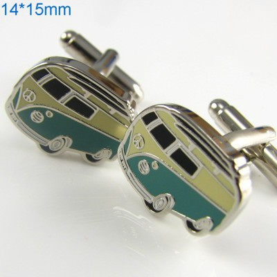 Gift Boxed Small Bus Cufflinks Men's Shirt Cuff Jewelry cf743(China (Mainland))