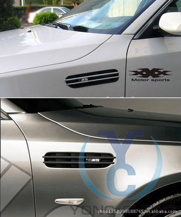 2pcs/set Car Body S LINE Mark Side Vent Decoration for A1 A4 A5 A6 Cars S line Side Shark Grills Vents Modification Accessories(China (Mainland))