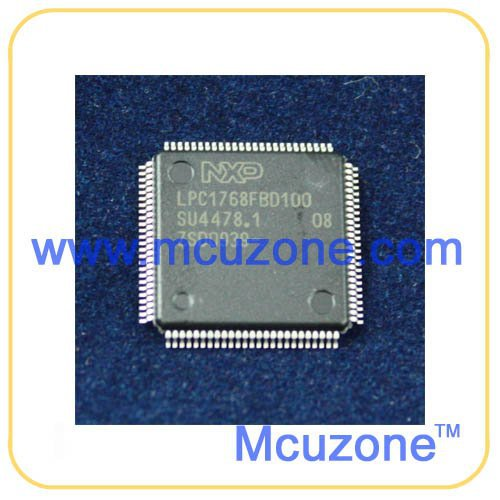 LPC1768, 100MHz Cortex-M3 core, 512KB FLASH, 32KB SRAM, EMAC, USB, ADC, DAC, UART, SPI, I2C(China (Mainland))