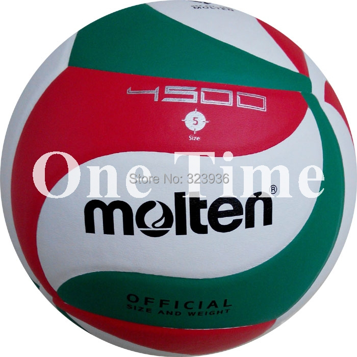 2015 Hot Sale Brand New Official Weight Size 5 PU Molten Volleyball Soft Touch Laminated Volleyball V5M4500 Match Training Ball(China (Mainland))