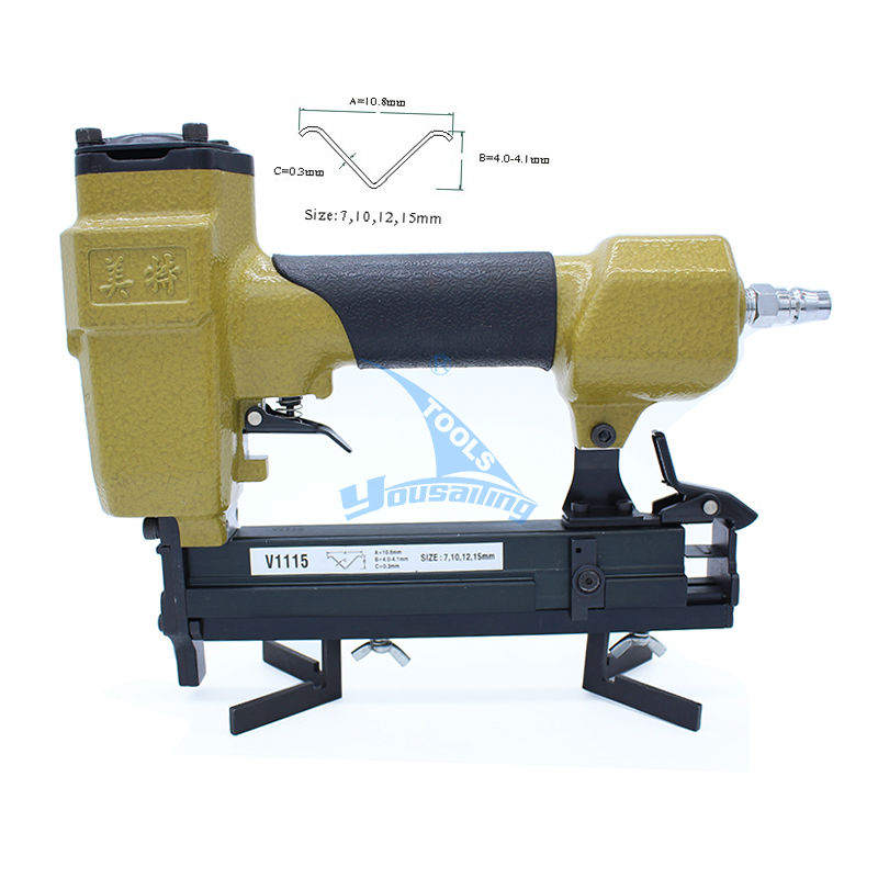 High Quality Pneumatic Stapler Air  Nail Gun nailer  V nail V115B 7mm 10 mm 12mm 15mm
