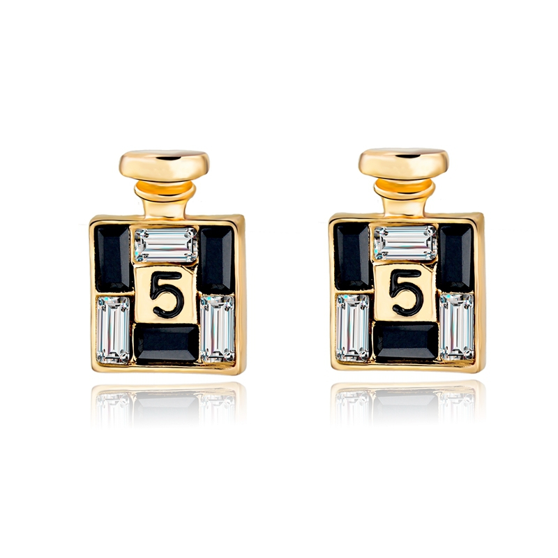 2015 Bijoux New Brand Jewelry Crystal Earrings For Women Luxury Gold Plated Stud Earring Fashion Party Brincos SER150066