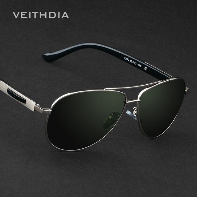 Мужские солнцезащитные очки-авиаторы с поляризованными зеркальными линзами и оправой ...
