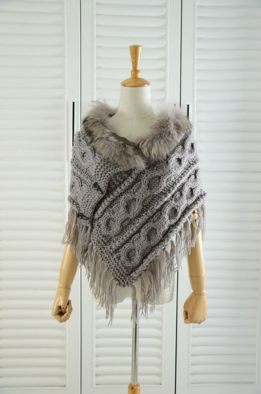women rabbit fur stole poncho cape wrap robe wraps shawl capes for winter drop shipping wholesale(China (Mainland))