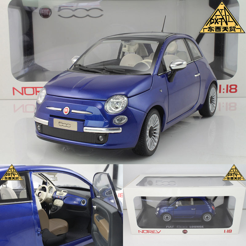 Nowell 1:18 FIAT 500C NOREV Fiat 500 blue alloy car model(China (Mainland))