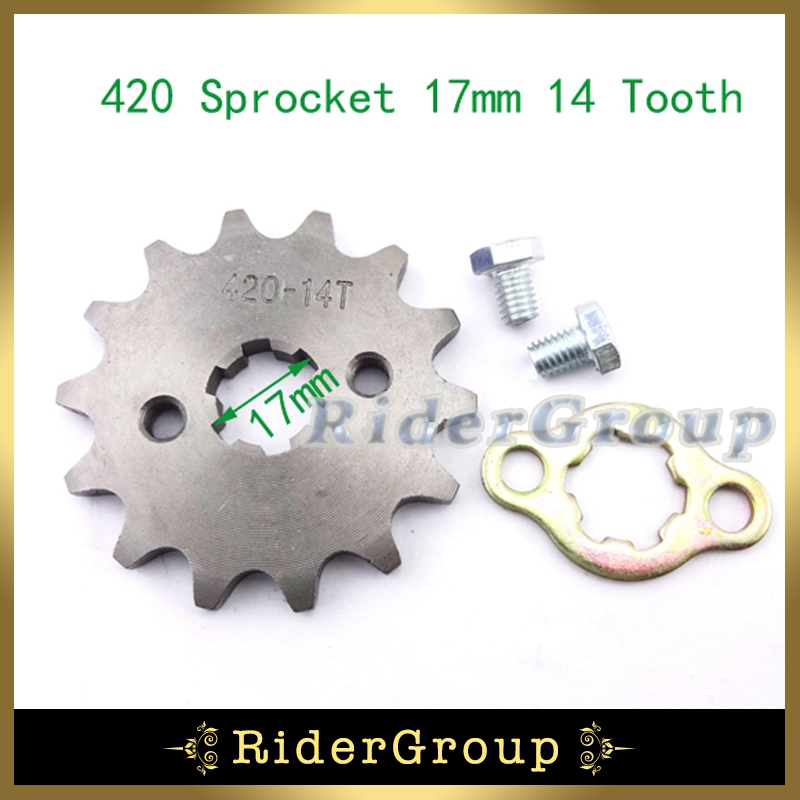 17mm Front Chain Sprocket 420 14 Tooth For 50cc 70 90cc 110cc 125cc Lifan YX Engine Motorcycle ATV Quad Pit Dirt Motor Bike(China (Mainland))