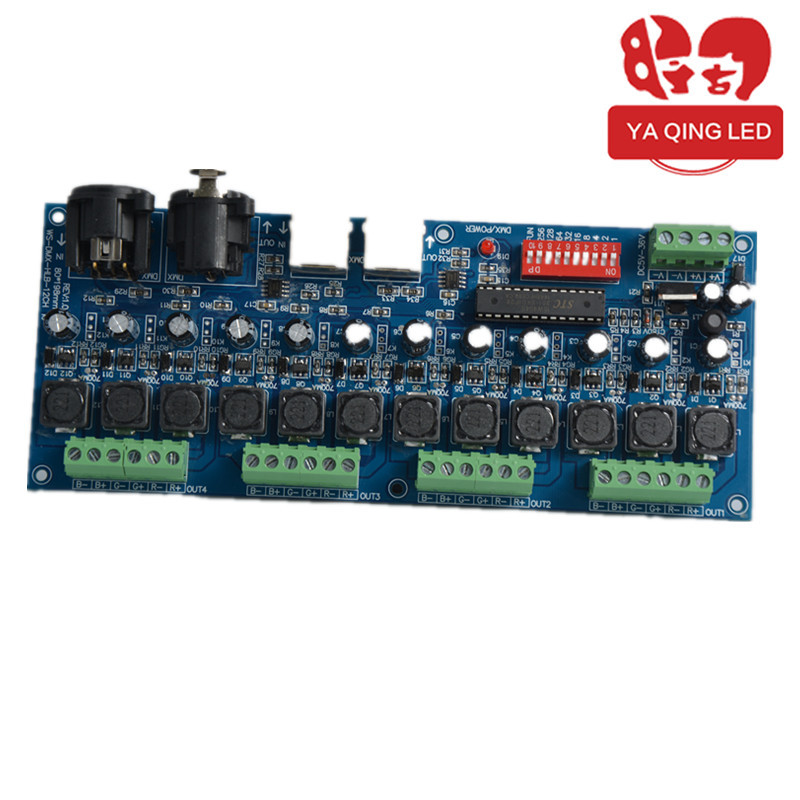 3CH easy dmx constant current decoder,DC12-24V input;350ma*3channel output;L166*W67*H41mm(China (Mainland))
