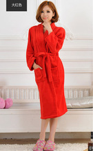 2015 Autumn winter bathrobes for women men  lady's  long sleeve flannel robe  female  male sleepwear  lounges  homewear pyjamas(China (Mainland))