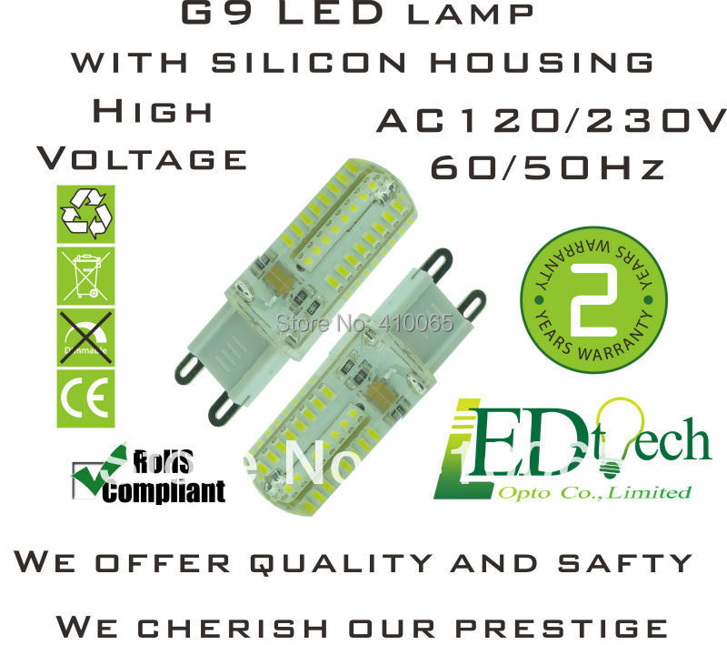 4W AC 230V silicon G9 LED corn bulb 3014 SMD Epistar LED chip energy saving mini LED bulb replacing halogen G9 lamp(China (Mainland))