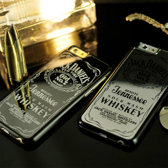 Chrome Silver Daniels Whiskey Luxury Mirror Case For iPhone 5 5S 6 Plus(China (Mainland))