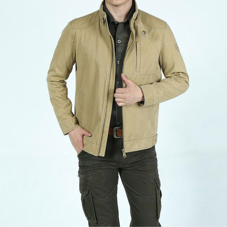 5XL Autumn Military Brand Jacket Men Slim Fit Casual Formal Business Pocket Stand Collar Cotton Plus Size Casual Coat Men JacketОдежда и ак�е��уары<br><br><br>Aliexpress