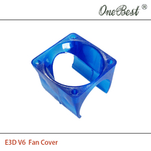 2Pcs/lot E3D V6 fan cover 3D printer DIY injection molding cooling POM plastic blue fan cover use for 3010 fan Free shipping