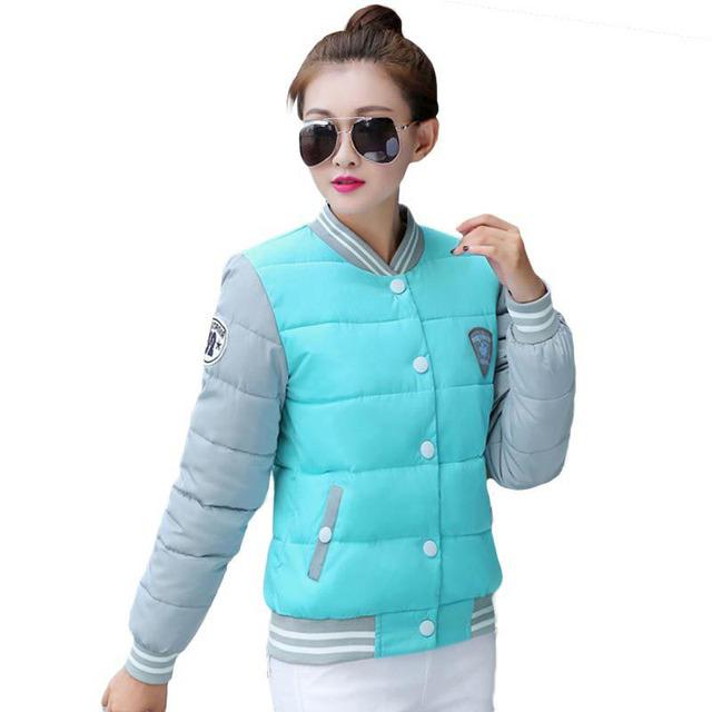 2016 новые зимняя куртка женщин корея мода равномерное теплые куртки зимнее пальто ...