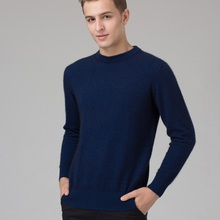 Winter Men Jumper 100% Pure Cashmere Knitted Sweater O-neck Long Sleeve Warm Pullovers Male 2016 New Sweaters Plus size clothes(China (Mainland))
