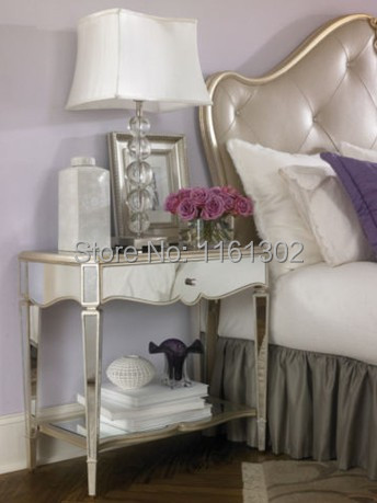 MR-401063 Mirrored drawers console table with a shelf(China (Mainland))