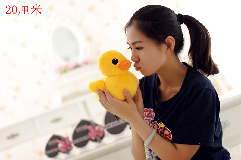 20cm lovely rhubarb duck Plush toys Yellow duck doll kawaii plush brinquedos toys for baby children  kids gifts Free Shipping <br><br>Aliexpress