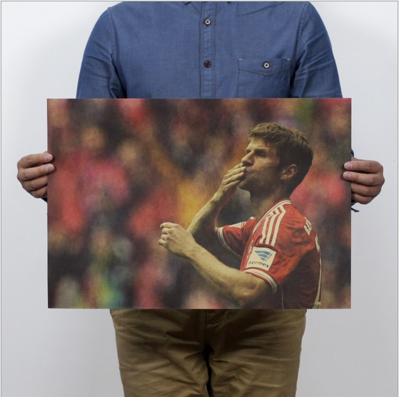 Germany football star Thomas Muller Poster sport Advertising Poster 51*35.5cm Kraft Paper for Decoration collection wall sticker(China (Mainland))