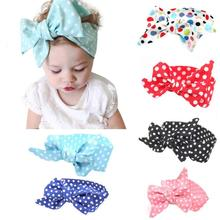 Free Shipping 2016 Best Deal High Quality Hot Selling Wave Spot Baby Girls Headband Elastics For Newborns Elastic Hair Head Band