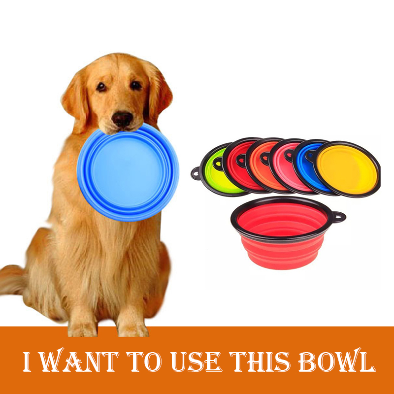 Pet Products silicone Bowl pet folding portable dog bowls wholesale for food the dog drinking water Dish pet bowls Dog Supplies(China (Mainland))